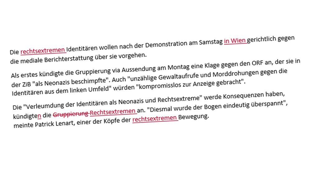 ORF gegen Identitäre Bewegung